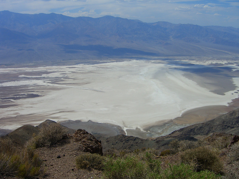 The salt flats of Bat water as seen from Dante's View in Death Valley National Park