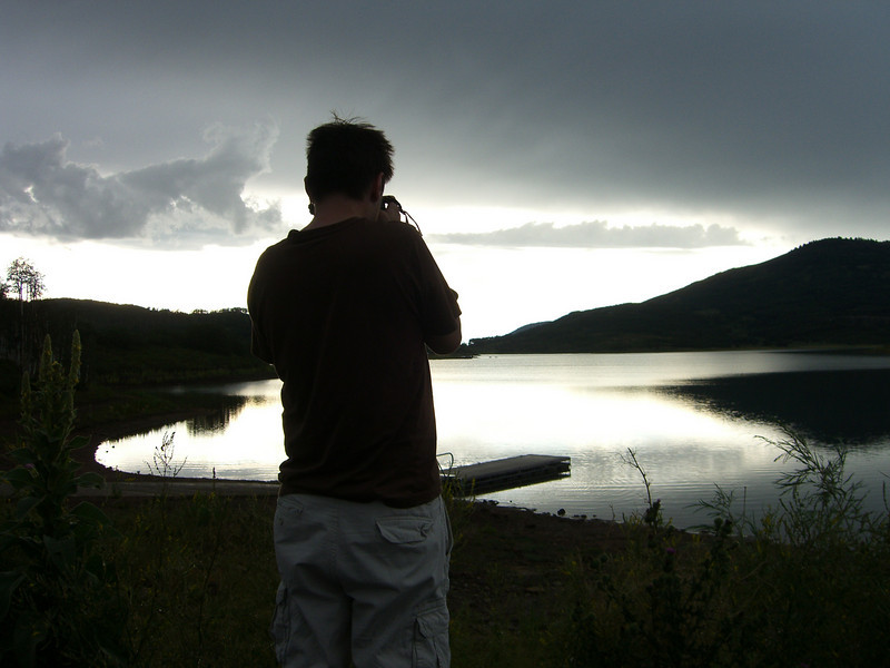 Rob taking pictures of the Kaibab reservoir