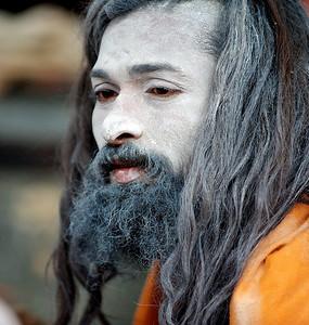 Naga Baba. Kumbh Mela 2010, Haridwar.