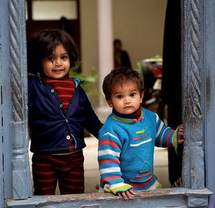 Children, Kumbh Mela 2010, Haridwar.