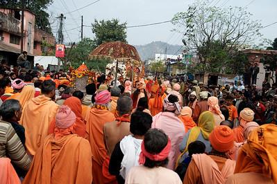 Procession of the Niranjani akhara. Kumbh Mela 2010, Haridwar.