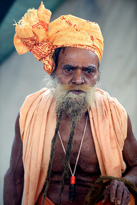 Naga Baba with 200 year old beard. Kumbh Mela 2010, Haridwar.
