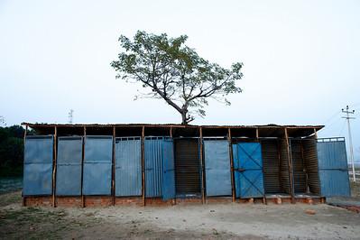 Latrines, Kumbh Mela 2010, Haridwar.