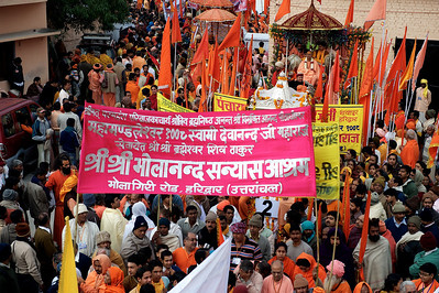 Procession of the Niranjani akhara. Kumbh Mela 2010, Haridwar.