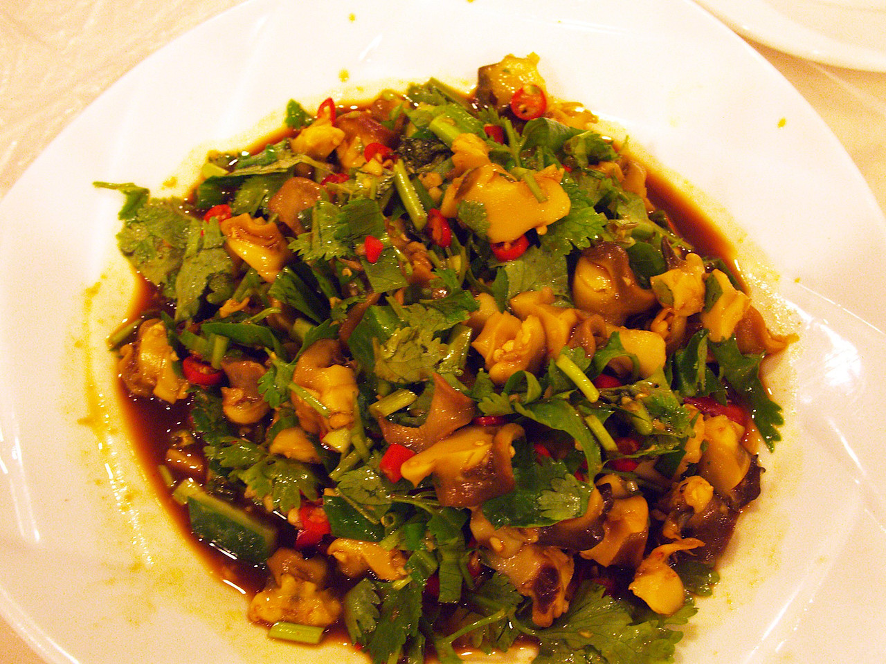 a delicious fungus dish in kunming