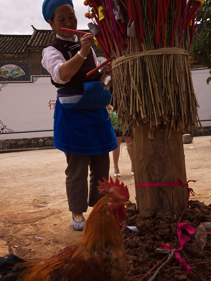 i went to a small village outside of dali on the day of the torch festival
