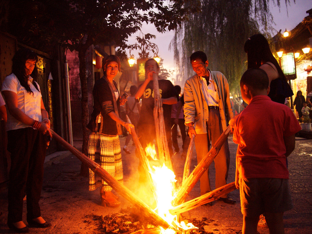 Back in Dali the torch festival took a different tone