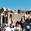 Temple of Hadrian in the Ephesus ruins in Kusadasi, Turkey.