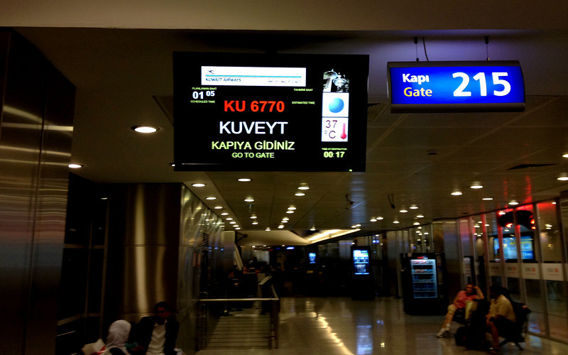 37 degrees at midnight - waiting for the Kuwait flight