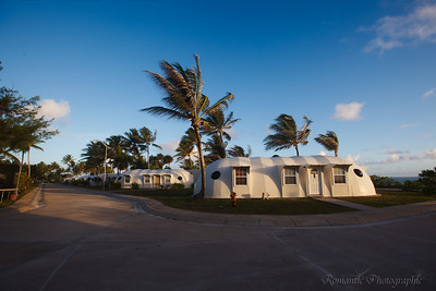 One of the surrealistic housing units on the North end of the island.