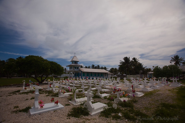 Many of the graves on Ennubirr island are imports from a more crowded island elsewhere in the atoll.