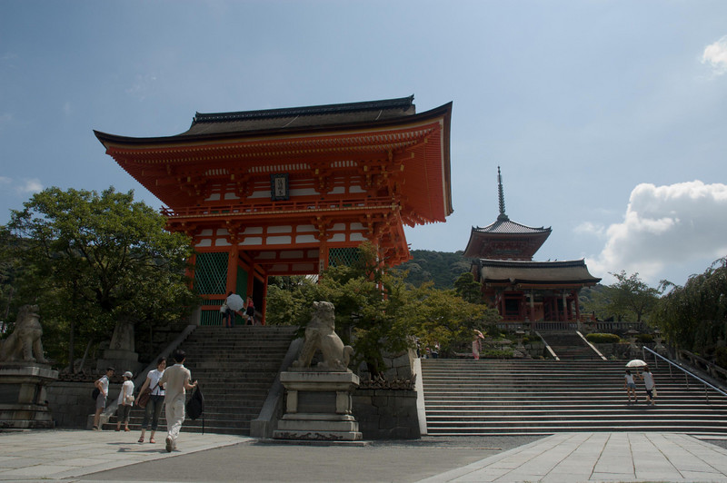 The impressive pagoda at Kiyomizu-dera