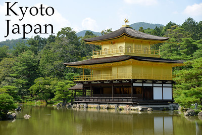 "Kinkaku-ji (金閣寺),""Temple of the Golden Pavilion"" is officially named Rokuon-ji (鹿苑寺)  ""Deer Garden Temple"". It is a Zen Buddhist temple in Kyoto, Japan. The garden complex is an excellent example of Muromachi period garden design. The Muromachi period is considered to be a classical age of Japanese garden design. The correlation between buildings and its settings were greatly emphasized during this period. It was a way to integrate the structure within the landscape in an artistic way. The garden designs were characterized by a reduction in scale, a more central purpose, and a distinct setting. A minimalistic approach was brought to the garden design, by recreating larger landscapes in a smaller scale around a structure.  Kyoto (京都市) is a city located in the central part of the island of Honshu, Japan. It has a population close to 1.5 million. Formerly the imperial capital of Japan for more than one thousand years, it is now the capital of Kyoto Prefecture, as well as a major part of the Kyoto-Osaka-Kobe metropolitan area. With temples, parks, bustling business districts, markets, from regal estates to the tightly-packed neighborhoods, Kyoto is one of the oldest and most famous Asian metropolises. Although ravaged by wars, fires, and earthquakes during its eleven centuries as the imperial capital, Kyoto was spared from much of the destruction of World War II. With its 2000 religious places- 1600 Buddhist temples and 400 Shinto shrines, as well as palaces, gardens and architecture intact, it is one of the best preserved cities in Japan."