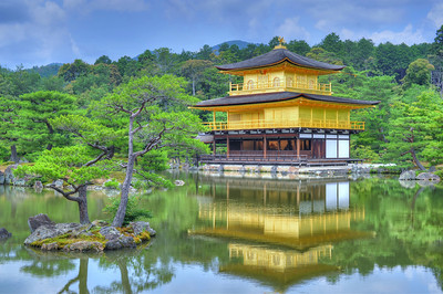 This is the Golden Pavilion.  The most beautiful temple in Kyoto