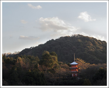 The view from the stage at Kiyomizudera