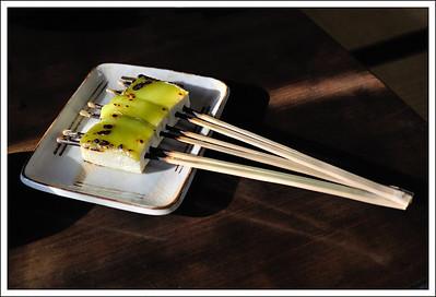 Grilled tofu at the tofu restaurant.