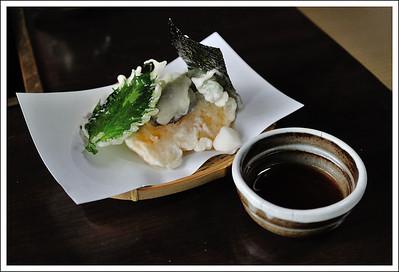 tempura at the tofu restaurant