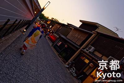 Maiko-san in Kamishichiken