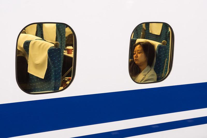 On the Shinkansen, Kyoto