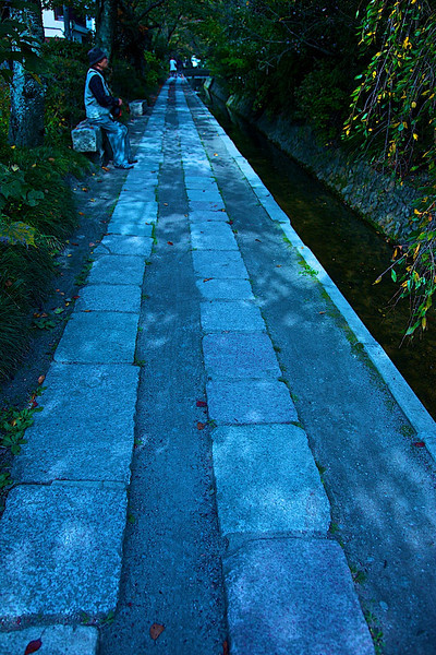 philosopher's path (actual walking/hiking path in Kyoto)