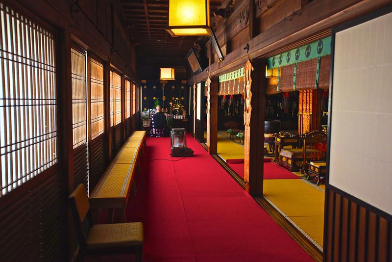 Shinjoshin-In, Koyasan (temple lodging) after morning prayers