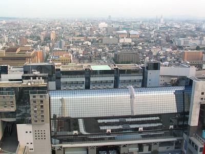 Nintendo Headquarters, white building, top center!