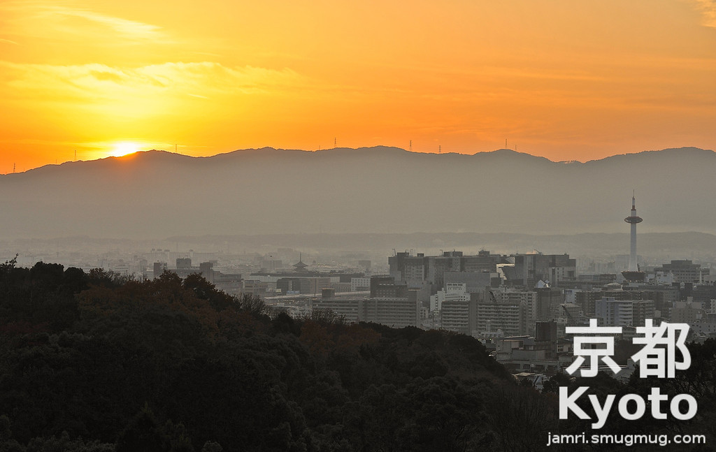 Winter Sunset from Kiyomizu-dera