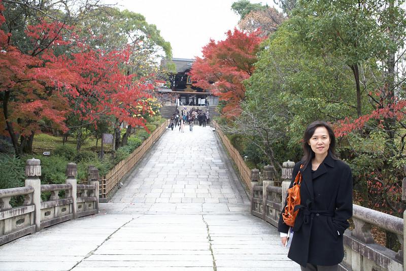 The bridge to the Nishi Otani Mausoleum.