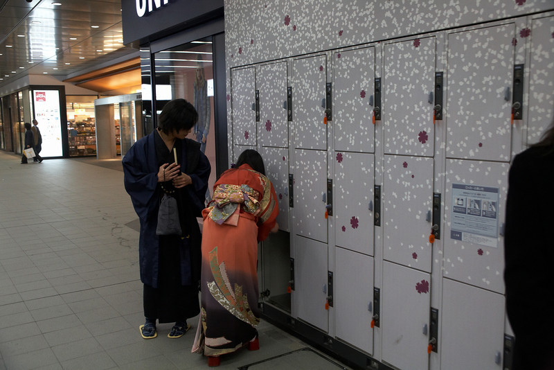 We were surprised to see lots of Japanese wearing traditional kimono.