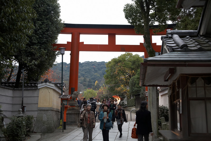 This is another gate for the Yasaka Shrine.