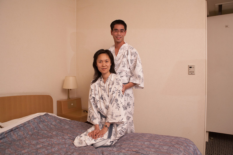 We had to take a photo with our hotel robes.