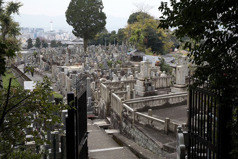 This graveyard was very close to the Kiyomizu-dera Temple.