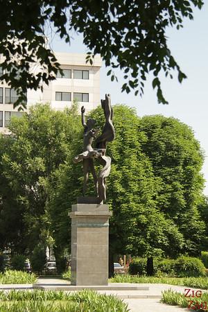 dancer statue opera Bishkek, Kyrgyzstan