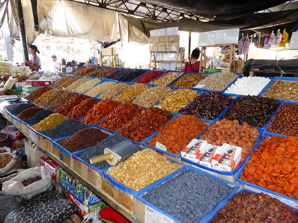 dried fruits at Osh Bazaar Bishkek, Kyrgyzstan