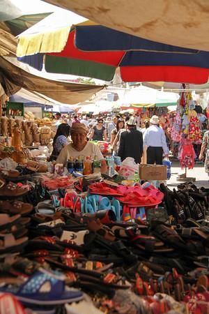 shoes at Osh Bazaar Bishkek, Kyrgyzstan