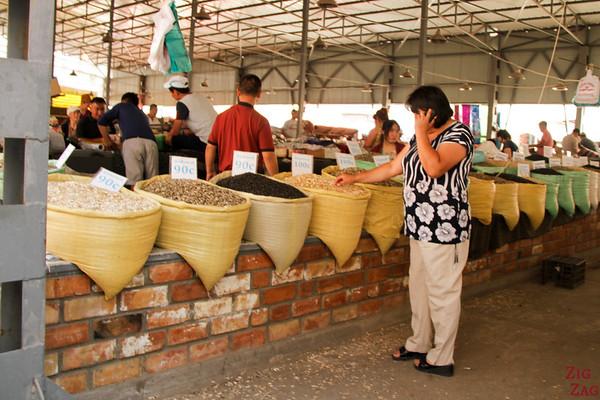 nuts at Osh Bazaar Bishkek, Kyrgyzstan
