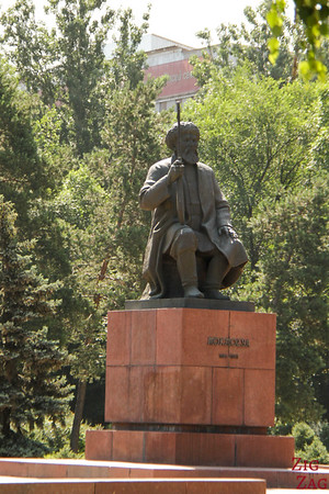 musician statue opera Bishkek, Kyrgyzstan