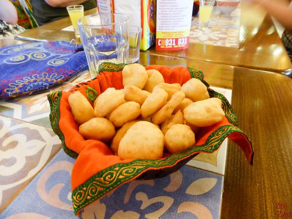 Kyrgyzstan food: donut bread