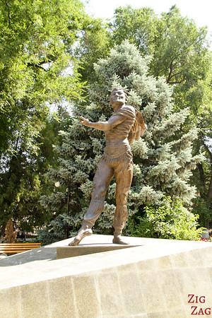 male dancer statue opera Bishkek, Kyrgyzstan