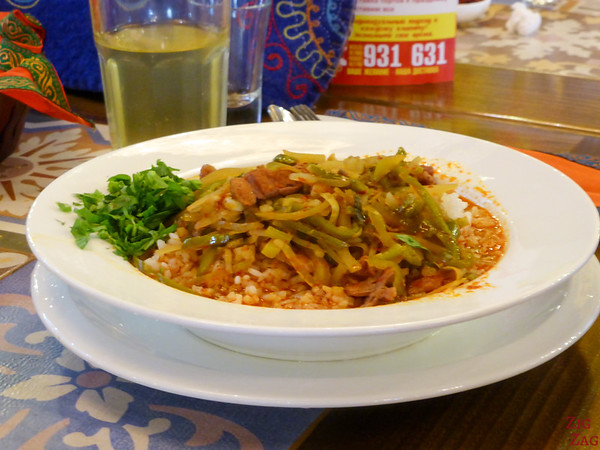 Kyrgyzstan food: main dish 2