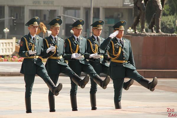 Parade at Victory Square Bishkek, Kyrgyzstan