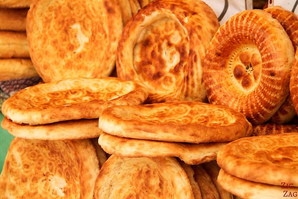 bread at Osh Bazaar Bishkek, Kyrgyzstan