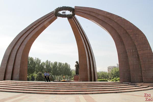 Victory square 2 Bishkek, Kyrgyzstan