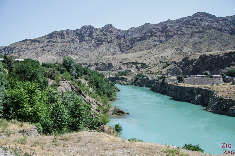 Driving along M41, Kyrgyzstan 3