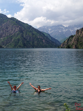 Swimming in Sary Chelek lale Kyrgyzstan