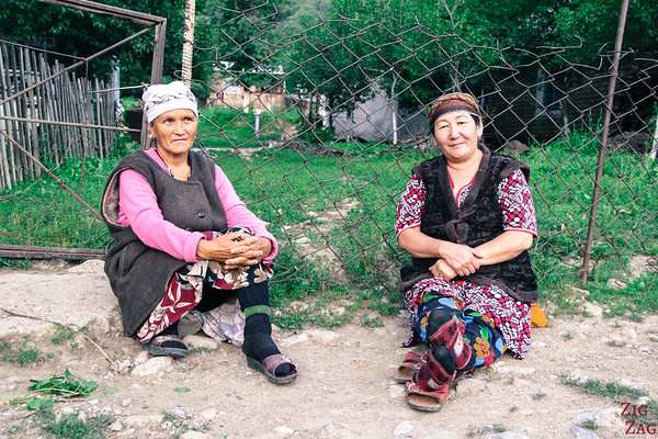 Locals in Arkit village, sary Chelek Reserve, Kyrgyzstan