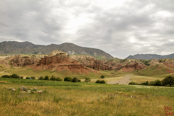 Rock formations on the road to Sary Chelek, Kyrgyzstan 1
