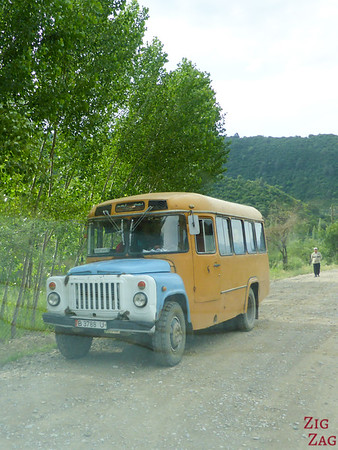 old bus in Kyrgyzstan 2