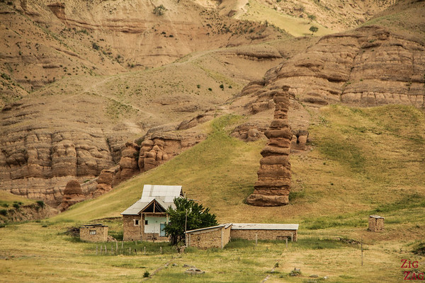 Rock formations on the road to Sary Chelek, Kyrgyzstan 4