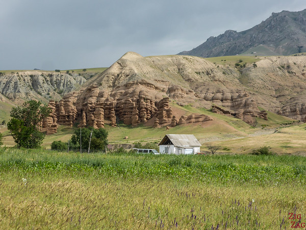 Rock formations on the road to Sary Chelek, Kyrgyzstan 3